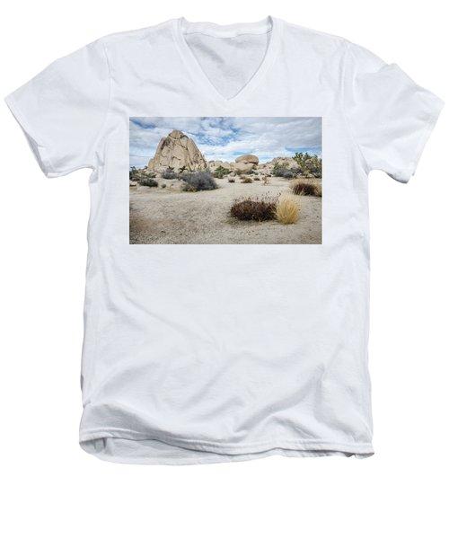 Rock Tower No.2 Men's V-Neck T-Shirt