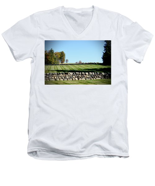 Rock Wall Lawn Men's V-Neck T-Shirt