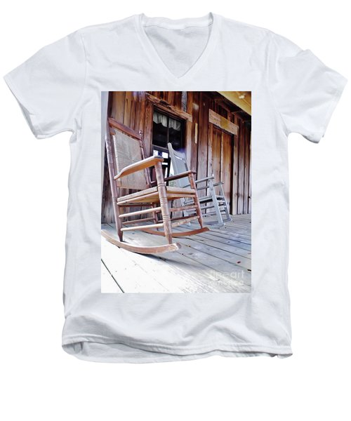 Rocking On The Front Porch Men's V-Neck T-Shirt