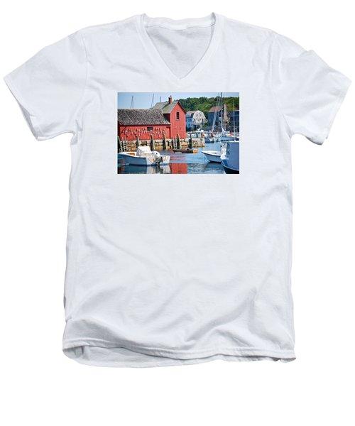 Rockport Motif 1 Men's V-Neck T-Shirt