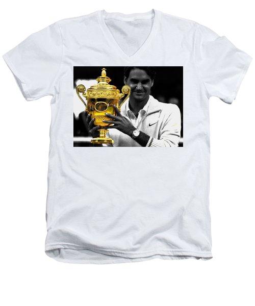 Roger Federer 2a Men's V-Neck T-Shirt
