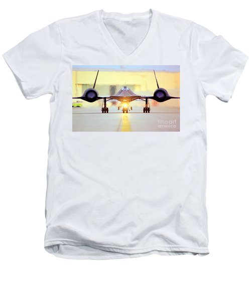 Roger That - Sr71 Jet Men's V-Neck T-Shirt by Greg Moores