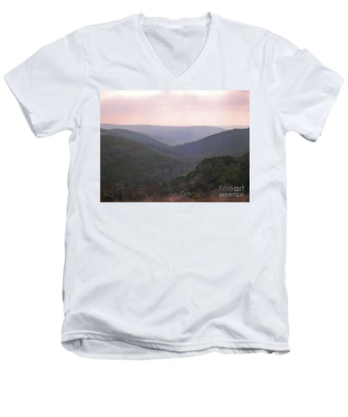 Men's V-Neck T-Shirt featuring the photograph Rolling Hill Country by Felipe Adan Lerma