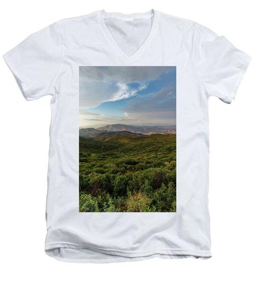 Rolling Hills Of Chaparral Men's V-Neck T-Shirt