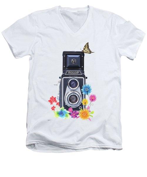 Rollop Men's V-Neck T-Shirt by Keith Hawley