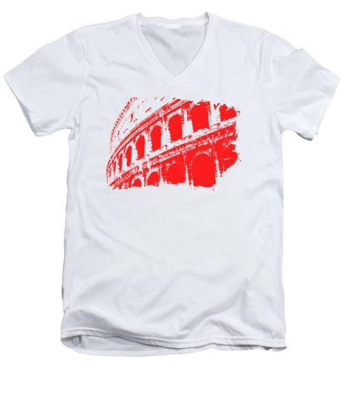 Roman Colosseum View Men's V-Neck T-Shirt