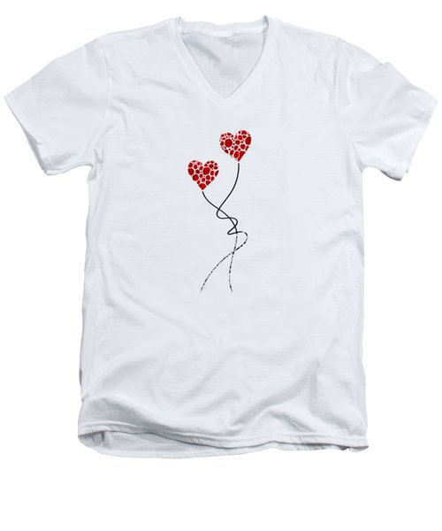 Romantic Art - You Are The One - Sharon Cummings Men's V-Neck T-Shirt