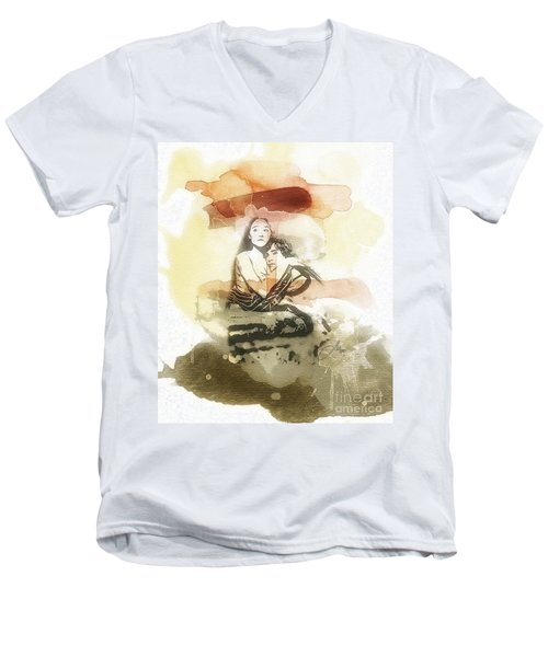 Romeo And Juliet Men's V-Neck T-Shirt by Mo T