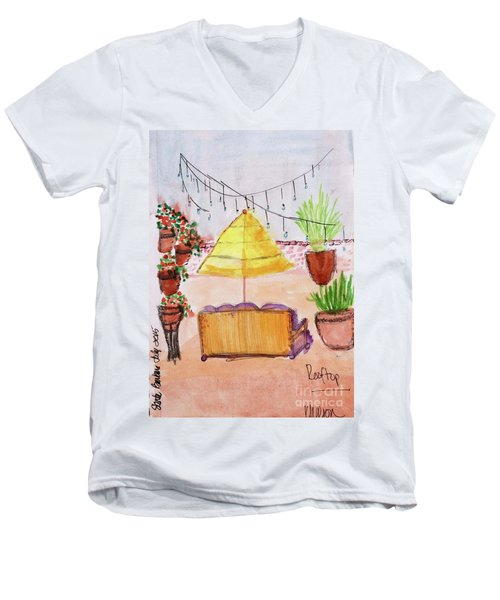 Rooftop At The Canary Men's V-Neck T-Shirt