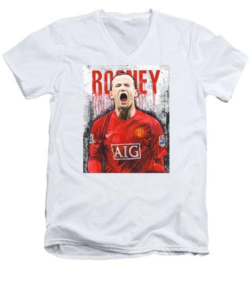 Rooney Men's V-Neck T-Shirt by Jeff Gomez