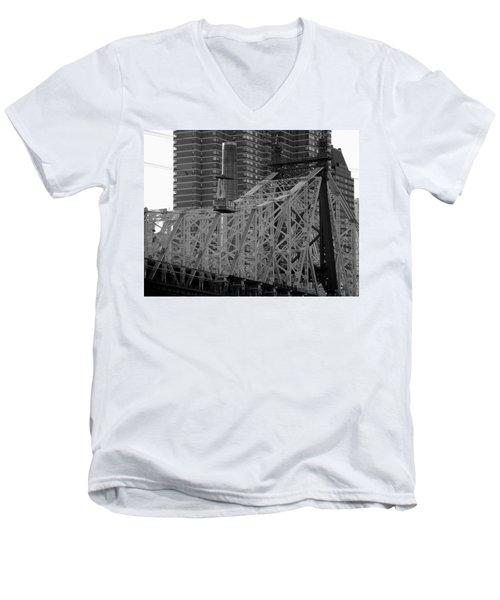 Roosevelt Island Tram Men's V-Neck T-Shirt