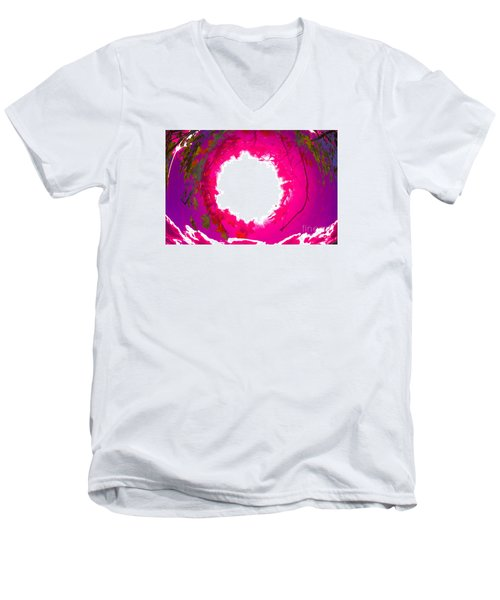 Men's V-Neck T-Shirt featuring the photograph Rosa by Jesse Ciazza