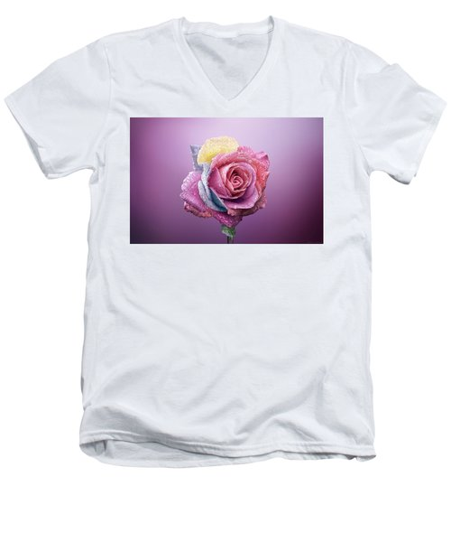 Rose Colorfull Men's V-Neck T-Shirt
