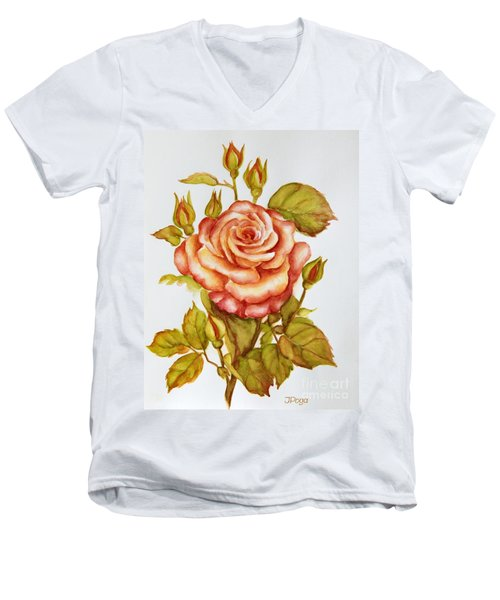 Rose For My Mom Men's V-Neck T-Shirt
