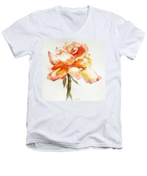 Rose Yellow Men's V-Neck T-Shirt