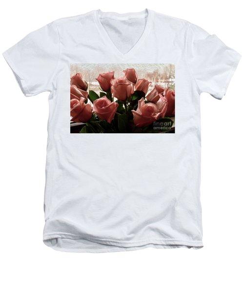 Roses With Love Men's V-Neck T-Shirt
