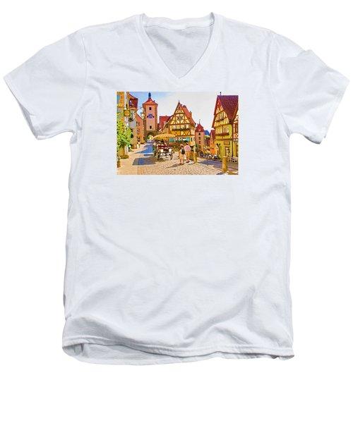 Rothenburg Little Square Men's V-Neck T-Shirt