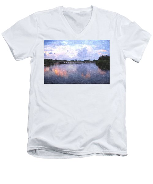 Rotonda River Roriwc Men's V-Neck T-Shirt by Jim Brage