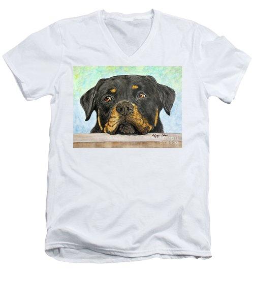 Rottweiler's Sweet Face 2 Men's V-Neck T-Shirt
