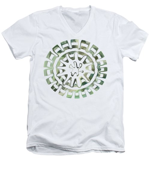 Round About Green Men's V-Neck T-Shirt