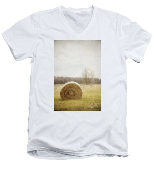 Round Bale O'hay Men's V-Neck T-Shirt