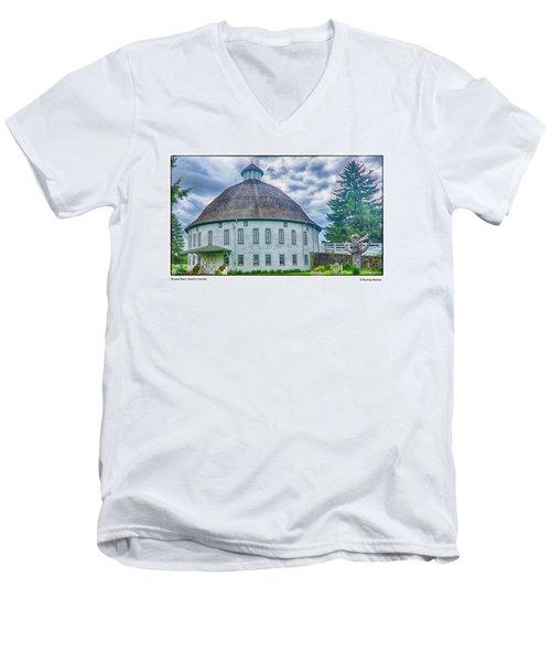 Round Barn, Adams County Men's V-Neck T-Shirt