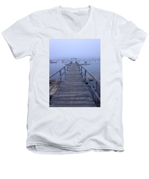 Men's V-Neck T-Shirt featuring the photograph Round Pond by Olivier Calas