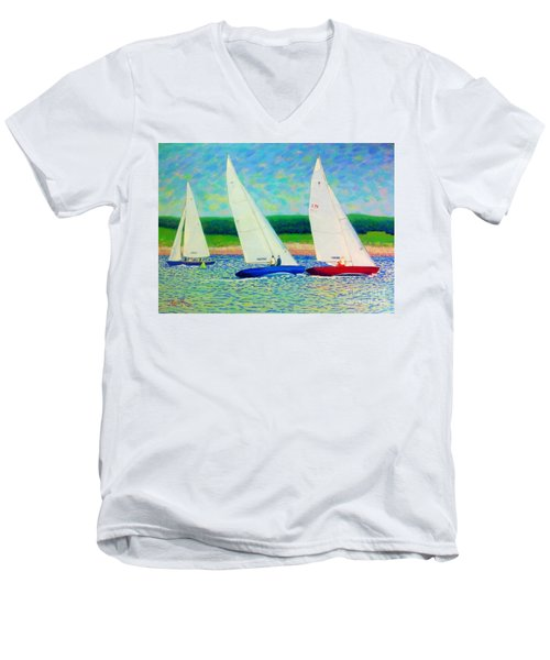 Rounding The Mark  Men's V-Neck T-Shirt
