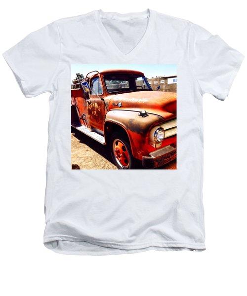 Route 66 Men's V-Neck T-Shirt by Mark David Gerson