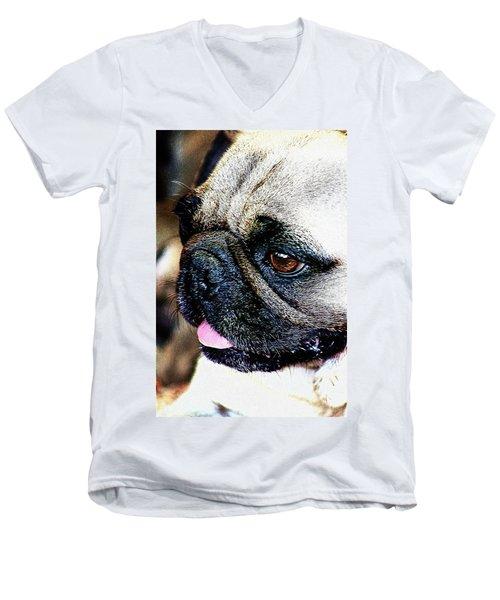 Roxy The Pug Men's V-Neck T-Shirt