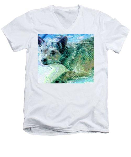 Roxy Men's V-Neck T-Shirt by Vickie G Buccini