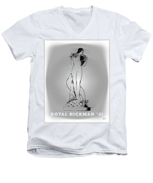 Royal Hickman 41 2 Men's V-Neck T-Shirt