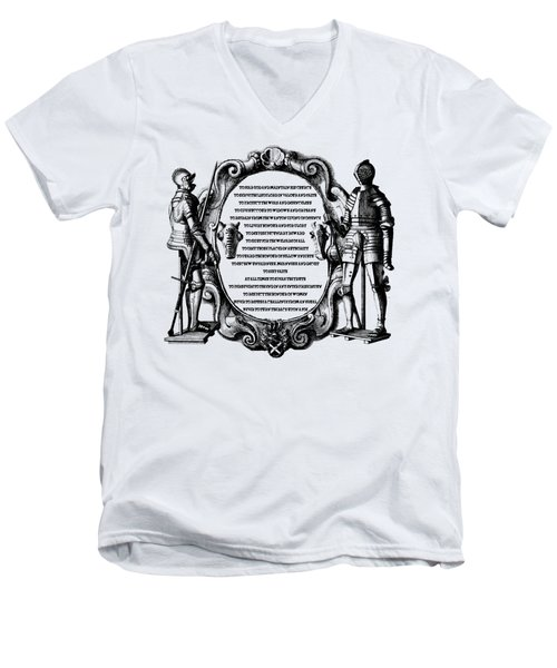 Royal Knights Code Of Ethics Men's V-Neck T-Shirt