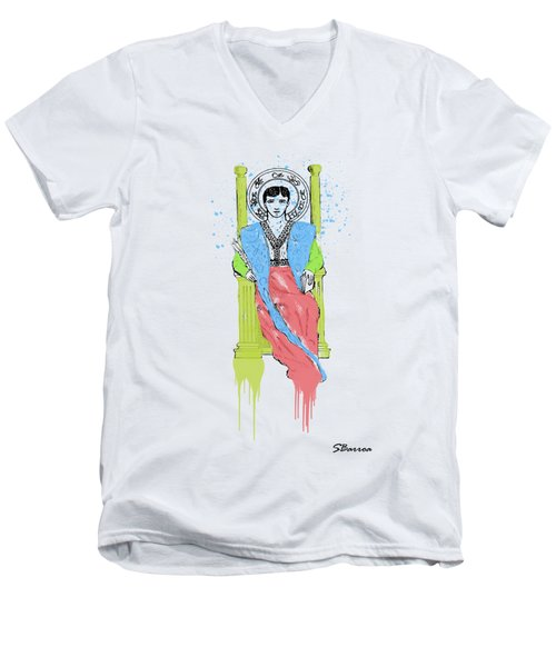 Royalty Watercolor 1 Men's V-Neck T-Shirt