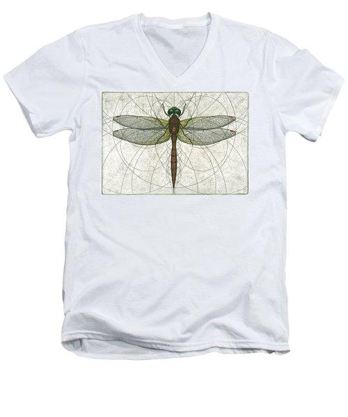Ruby Meadowhawk Dragonfly Men's V-Neck T-Shirt