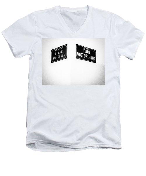 The Corner Of Place Bellecour And Rue Victor Hugo Men's V-Neck T-Shirt