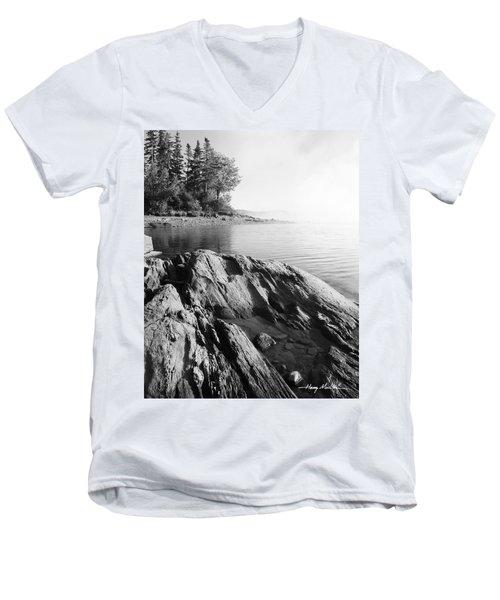 Rugged Lake Shore Men's V-Neck T-Shirt