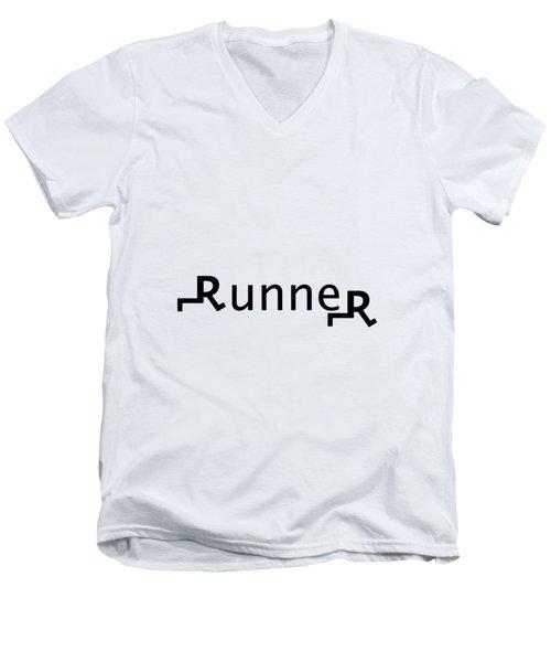 Runner Men's V-Neck T-Shirt
