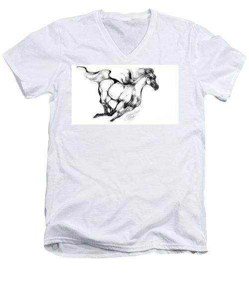 Night Running Horse Men's V-Neck T-Shirt