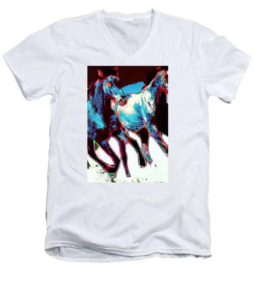 Running Wild No. 4 Men's V-Neck T-Shirt