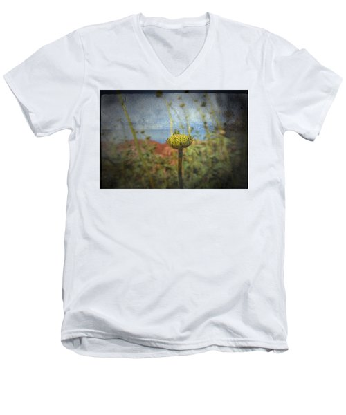 Men's V-Neck T-Shirt featuring the photograph Runt  by Mark Ross