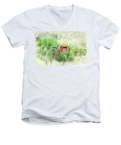 Men's V-Neck T-Shirt featuring the photograph Rural Mailbox by Jean OKeeffe Macro Abundance Art