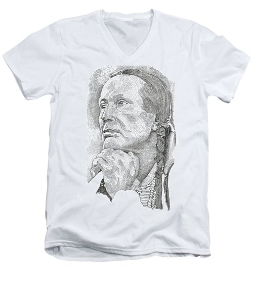 Russell Means Men's V-Neck T-Shirt