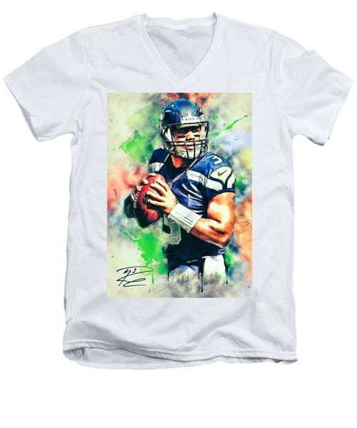 Russell Wilson Men's V-Neck T-Shirt