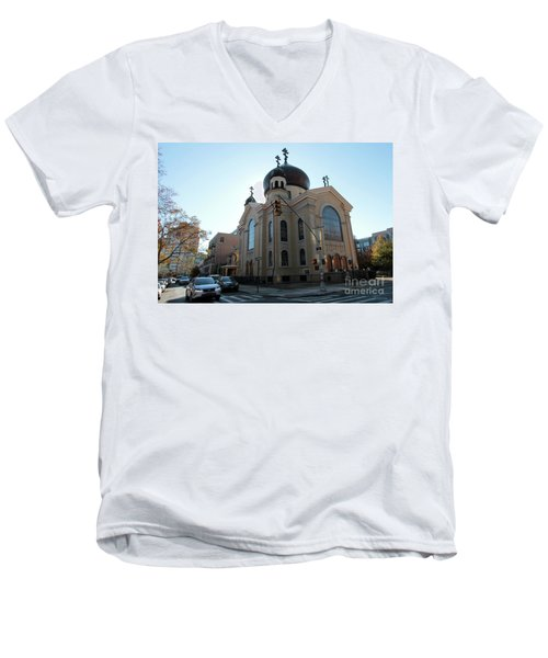 Russian Orthodox Cathedral Of The Transfiguration Of Our Lord Men's V-Neck T-Shirt