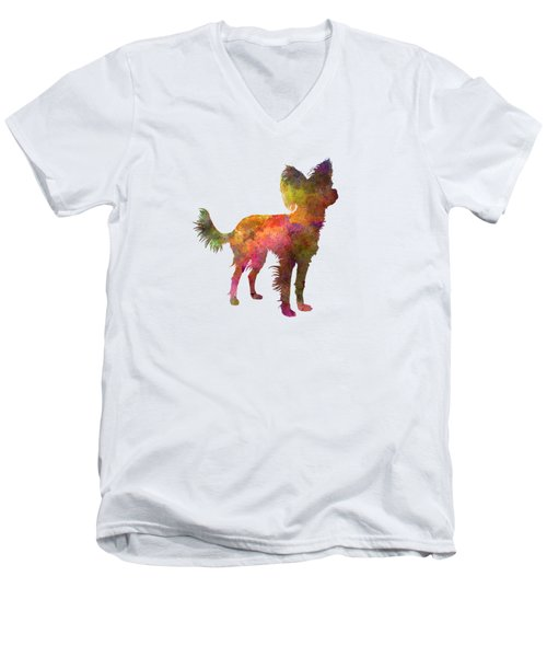 Russian Toy 02 In Watercolor Men's V-Neck T-Shirt