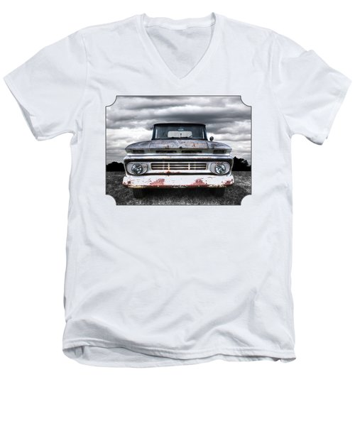 Rust And Proud - 62 Chevy Fleetside Men's V-Neck T-Shirt by Gill Billington