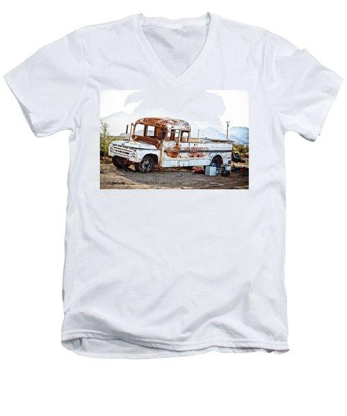 Rusted Abandoned Truck Men's V-Neck T-Shirt
