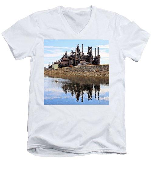 Rusted Relection Men's V-Neck T-Shirt