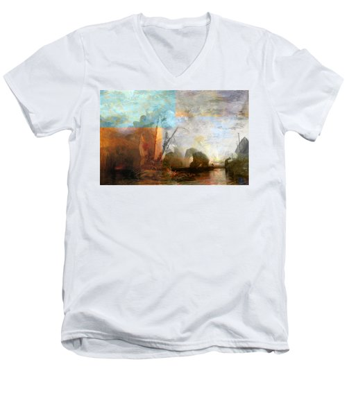 Rustic I Turner Men's V-Neck T-Shirt by David Bridburg